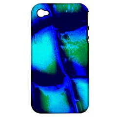 Blue Scales Pattern Background Apple Iphone 4/4s Hardshell Case (pc+silicone) by Amaryn4rt