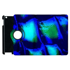 Blue Scales Pattern Background Apple Ipad 2 Flip 360 Case by Amaryn4rt