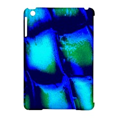 Blue Scales Pattern Background Apple Ipad Mini Hardshell Case (compatible With Smart Cover) by Amaryn4rt