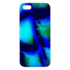 Blue Scales Pattern Background Apple Iphone 5 Premium Hardshell Case by Amaryn4rt