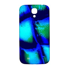 Blue Scales Pattern Background Samsung Galaxy S4 I9500/i9505  Hardshell Back Case by Amaryn4rt