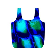 Blue Scales Pattern Background Full Print Recycle Bags (s)  by Amaryn4rt
