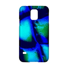 Blue Scales Pattern Background Samsung Galaxy S5 Hardshell Case  by Amaryn4rt