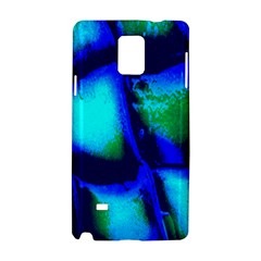 Blue Scales Pattern Background Samsung Galaxy Note 4 Hardshell Case by Amaryn4rt