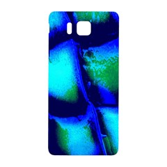 Blue Scales Pattern Background Samsung Galaxy Alpha Hardshell Back Case by Amaryn4rt