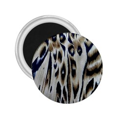 Tiger Background Fabric Animal Motifs 2 25  Magnets by Amaryn4rt