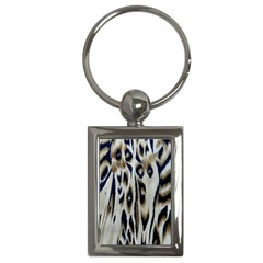 Tiger Background Fabric Animal Motifs Key Chains (rectangle)  by Amaryn4rt
