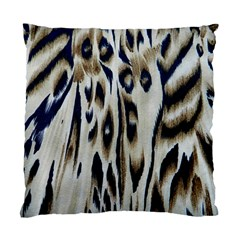 Tiger Background Fabric Animal Motifs Standard Cushion Case (two Sides) by Amaryn4rt