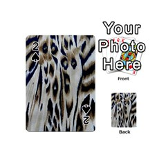 Tiger Background Fabric Animal Motifs Playing Cards 54 (mini)  by Amaryn4rt