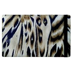 Tiger Background Fabric Animal Motifs Apple Ipad 2 Flip Case by Amaryn4rt