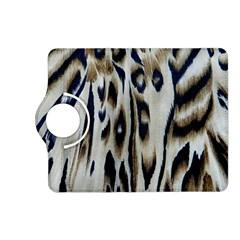 Tiger Background Fabric Animal Motifs Kindle Fire Hd (2013) Flip 360 Case by Amaryn4rt