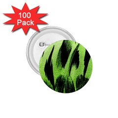 Green Tiger Background Fabric Animal Motifs 1 75  Buttons (100 Pack)  by Amaryn4rt