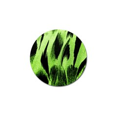 Green Tiger Background Fabric Animal Motifs Golf Ball Marker (4 Pack) by Amaryn4rt