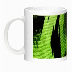 Green Tiger Background Fabric Animal Motifs Night Luminous Mugs by Amaryn4rt