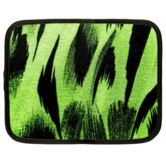 Green Tiger Background Fabric Animal Motifs Netbook Case (xxl)