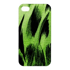Green Tiger Background Fabric Animal Motifs Apple Iphone 4/4s Hardshell Case by Amaryn4rt