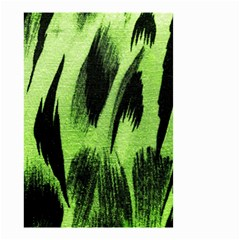 Green Tiger Background Fabric Animal Motifs Small Garden Flag (two Sides) by Amaryn4rt