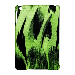 Green Tiger Background Fabric Animal Motifs Apple Ipad Mini Hardshell Case (compatible With Smart Cover) by Amaryn4rt