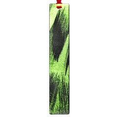 Green Tiger Background Fabric Animal Motifs Large Book Marks by Amaryn4rt