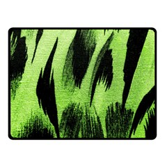 Green Tiger Background Fabric Animal Motifs Double Sided Fleece Blanket (small)  by Amaryn4rt