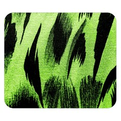 Green Tiger Background Fabric Animal Motifs Double Sided Flano Blanket (small)  by Amaryn4rt
