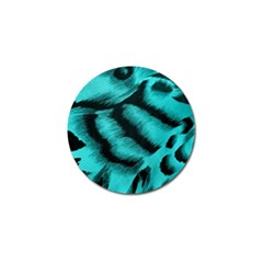 Blue Background Fabric Tiger  Animal Motifs Golf Ball Marker (10 Pack) by Amaryn4rt
