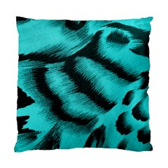 Blue Background Fabric Tiger  Animal Motifs Standard Cushion Case (two Sides) by Amaryn4rt
