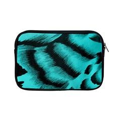 Blue Background Fabric Tiger  Animal Motifs Apple Ipad Mini Zipper Cases by Amaryn4rt