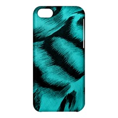Blue Background Fabric Tiger  Animal Motifs Apple Iphone 5c Hardshell Case