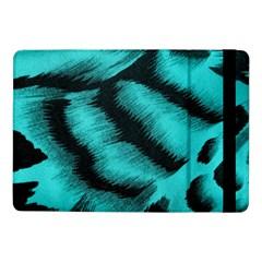 Blue Background Fabric Tiger  Animal Motifs Samsung Galaxy Tab Pro 10 1  Flip Case by Amaryn4rt