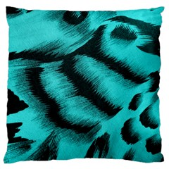 Blue Background Fabric Tiger  Animal Motifs Standard Flano Cushion Case (two Sides)