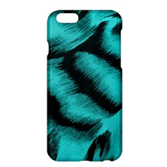 Blue Background Fabric Tiger  Animal Motifs Apple Iphone 6 Plus/6s Plus Hardshell Case by Amaryn4rt