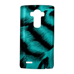 Blue Background Fabric Tiger  Animal Motifs Lg G4 Hardshell Case by Amaryn4rt