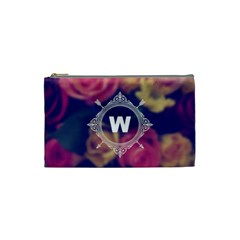 Vintage Monogram Flower Vintage Monogram Flower Cosmetic Bag (Small)