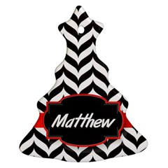 Pattern Black 1 Christmas Tree Ornament (two Sides) by makeunique