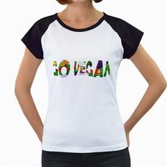 Go Vegan Women s Cap Sleeve T by Valentinaart