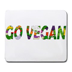 Go Vegan Large Mousepads by Valentinaart