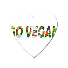 Go Vegan Heart Magnet by Valentinaart