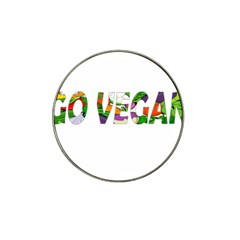 Go Vegan Hat Clip Ball Marker by Valentinaart