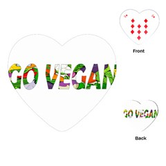 Go Vegan Playing Cards (heart)  by Valentinaart