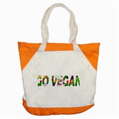 Go Vegan Accent Tote Bag by Valentinaart