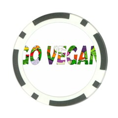 Go Vegan Poker Chip Card Guard by Valentinaart