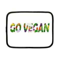 Go Vegan Netbook Case (small)  by Valentinaart