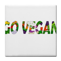 Go Vegan Face Towel by Valentinaart