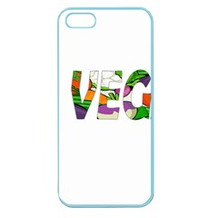 Go Vegan Apple Seamless Iphone 5 Case (color) by Valentinaart