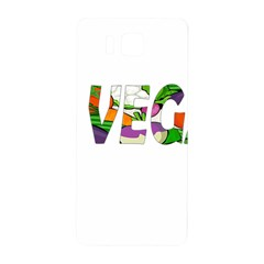 Go Vegan Samsung Galaxy Alpha Hardshell Back Case by Valentinaart