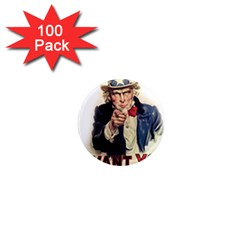 Uncle Sam 1  Mini Magnets (100 Pack)  by Valentinaart