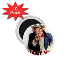 Uncle Sam 1 75  Magnets (10 Pack)  by Valentinaart