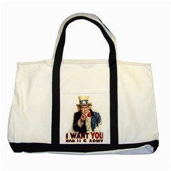 Uncle Sam Two Tone Tote Bag by Valentinaart