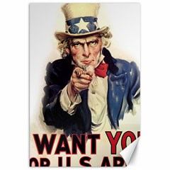 Uncle Sam Canvas 20  X 30   by Valentinaart